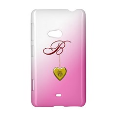 B Golden Rose Heart Locket Nokia Lumia 625 Hardshell Case
