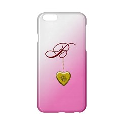 B Golden Rose Heart Locket Apple iPhone 6 Hardshell Case