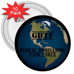 Gdtf 3  Button (10 Pack)