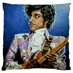 His Royal Purpleness Large Flano Cushion Case (Two Sides)
