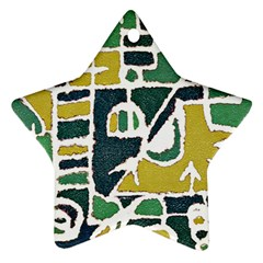 Colorful Tribal Abstract Pattern Star Ornament