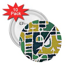 Colorful Tribal Abstract Pattern 2 25  Button (10 Pack)