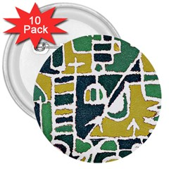 Colorful Tribal Abstract Pattern 3  Button (10 pack)