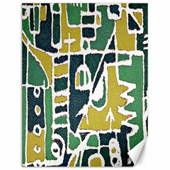 Colorful Tribal Abstract Pattern Canvas 12  X 16  (unframed)