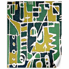 Colorful Tribal Abstract Pattern Canvas 16  X 20  (unframed)
