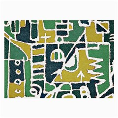 Colorful Tribal Abstract Pattern Glasses Cloth (large, Two Sided)