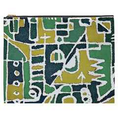 Colorful Tribal Abstract Pattern Cosmetic Bag (xxxl)