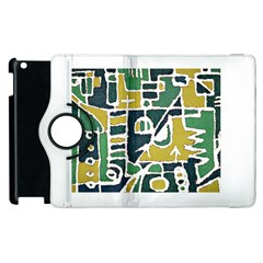 Colorful Tribal Abstract Pattern Apple iPad 2 Flip 360 Case