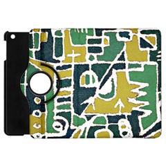 Colorful Tribal Abstract Pattern Apple Ipad Mini Flip 360 Case