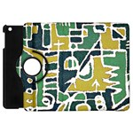 Colorful Tribal Abstract Pattern Apple iPad Mini Flip 360 Case Front