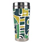 Colorful Tribal Abstract Pattern Stainless Steel Travel Tumbler Left
