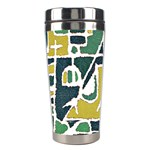 Colorful Tribal Abstract Pattern Stainless Steel Travel Tumbler Center