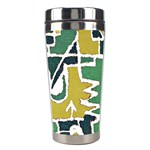 Colorful Tribal Abstract Pattern Stainless Steel Travel Tumbler Right