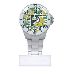 Colorful Tribal Abstract Pattern Nurses Watch