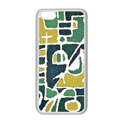 Colorful Tribal Abstract Pattern Apple iPhone 5C Seamless Case (White)
