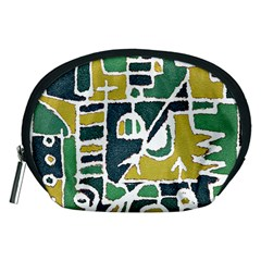 Colorful Tribal Abstract Pattern Accessory Pouch (Medium)