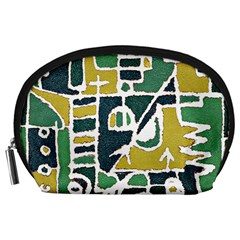 Colorful Tribal Abstract Pattern Accessory Pouch (Large)