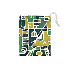 Colorful Tribal Abstract Pattern Drawstring Pouch (small)