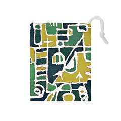 Colorful Tribal Abstract Pattern Drawstring Pouch (Medium)