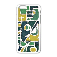 Colorful Tribal Abstract Pattern Apple iPhone 6 White Enamel Case