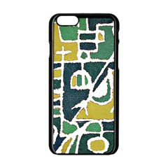 Colorful Tribal Abstract Pattern Apple iPhone 6 Black Enamel Case