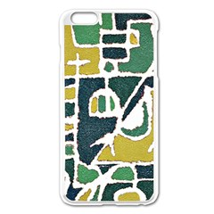 Colorful Tribal Abstract Pattern Apple Iphone 6 Plus Enamel White Case