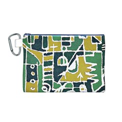 Colorful Tribal Abstract Pattern Canvas Cosmetic Bag (medium)