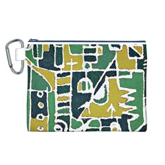 Colorful Tribal Abstract Pattern Canvas Cosmetic Bag (Large)