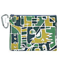 Colorful Tribal Abstract Pattern Canvas Cosmetic Bag (xl)