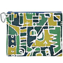 Colorful Tribal Abstract Pattern Canvas Cosmetic Bag (xxxl)