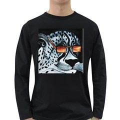 Cool Cat Men s Long Sleeve T Shirt (dark Colored)