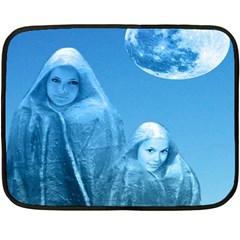 Full Moon Rising Mini Fleece Blanket (two Sided)