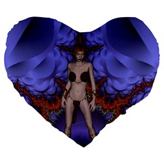 Chaos 19  Premium Heart Shape Cushion
