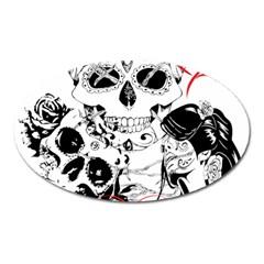 Skull Love Affair Magnet (Oval)