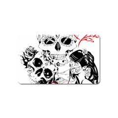 Skull Love Affair Magnet (name Card)