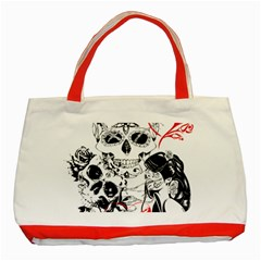 Skull Love Affair Classic Tote Bag (Red)