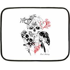 Skull Love Affair Mini Fleece Blanket (Two Sided)
