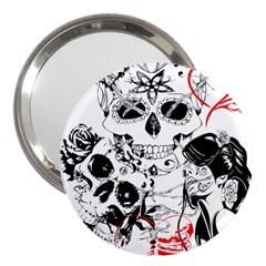 Skull Love Affair 3  Handbag Mirror