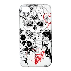 Skull Love Affair Apple Iphone 4/4s Hardshell Case With Stand