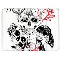 Skull Love Affair Samsung Galaxy Tab 7  P1000 Flip Case