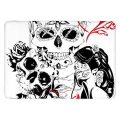 Skull Love Affair Samsung Galaxy Tab 8 9  P7300 Flip Case