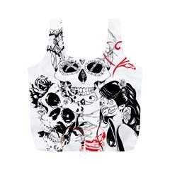Skull Love Affair Reusable Bag (M)