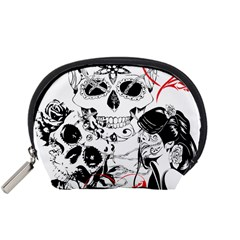 Skull Love Affair Accessory Pouch (Small)