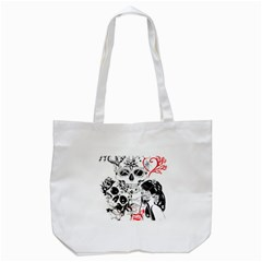 Skull Love Affair Tote Bag (White)