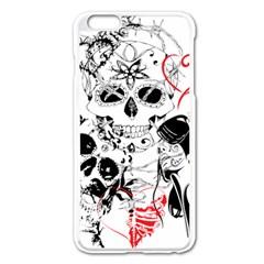 Skull Love Affair Apple Iphone 6 Plus Enamel White Case
