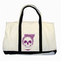 Purple Skull Bun Up Two Toned Tote Bag