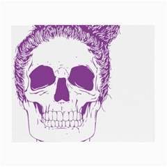 Purple Skull Bun Up Glasses Cloth (small, Two Sided)