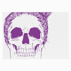 Purple Skull Bun Up Glasses Cloth (Large, Two Sided)