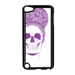 Purple Skull Bun Up Apple Ipod Touch 5 Case (black)