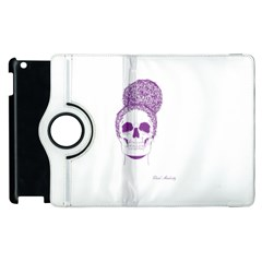 Purple Skull Bun Up Apple iPad 2 Flip 360 Case